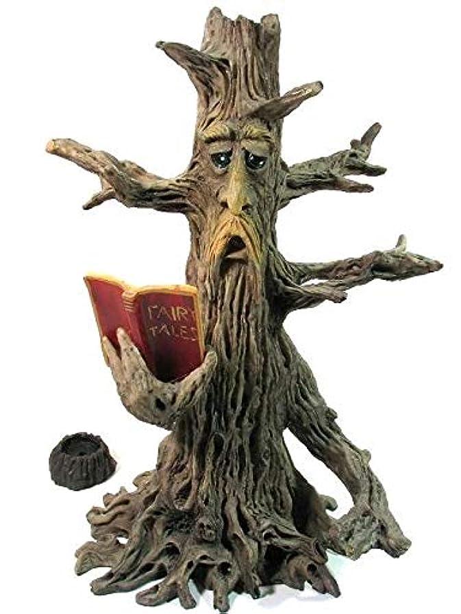 科学者独特の熱心な[INCENSE GOODS(インセンスグッズ)] TREE MAN READING BOOK INCENSE BURNER 木の精香立