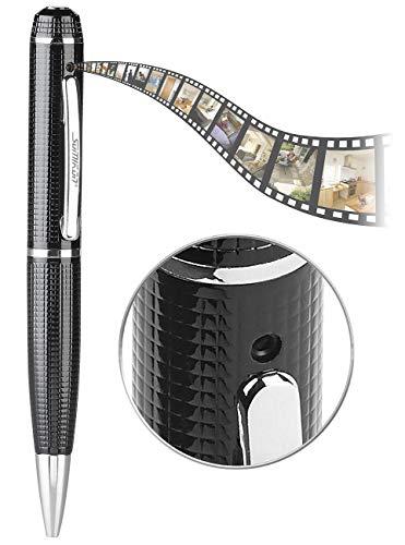 Somikon Stiftkamera: Kugelschreiber-Videokamera mit Blauer Mine und Foto-Funktion, Full HD (Kugelschreiber Kamera)