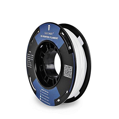 SainSmart Kleine Spule 1.75mm TPU Flexible 3D Filament 250g, Maßgenauigkeit +/- 0,05 mm, Shore 95A (White)