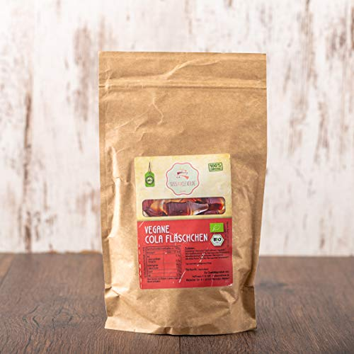 süssundclever.de® Bio Cola Flaschen   vegan   zuckerreduziert   1,0 kg   plastikfrei und ökologisch-nachhaltig abgepackt