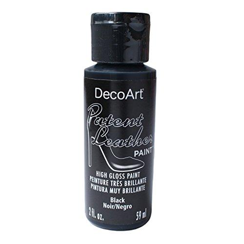 DecoArt Americana - Tarro de pintura (3,5 x 3,5 x 10 cm), color negro