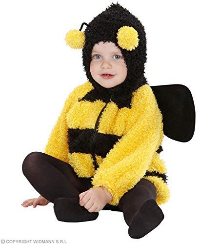 Widmann 1988E, Babykostüm - Klein Kinderkostüm Biene in den Größen 80 cm = 0-6 Montate und 90 cm = 12-24 Monate (80)