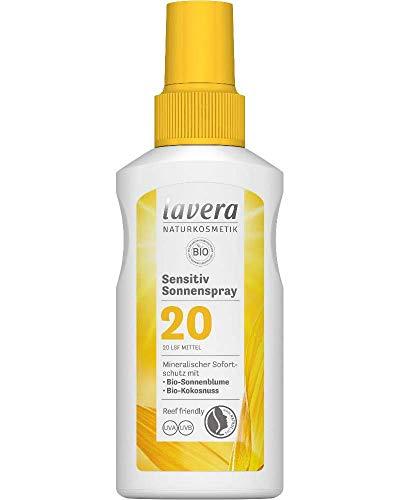 lavera Sensitiv Sonnenspray LSF 20 • Sonnenschutz • Lichtschutzfaktor 20 • Naturkosmetik • vegan • zertifiziert • 100 ml