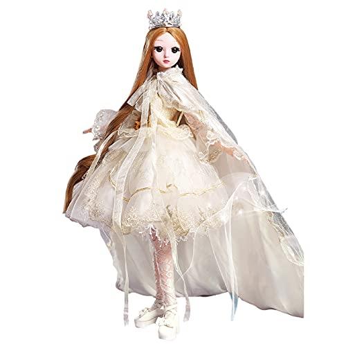 YIHANGG 60cm Bambola di Moda per Regali di Natale, 23 Snodi Bambola con Snodo A Sfera per Principessa Bambini Accompagnano I Giocattoli Compleanno della Ragazza,E