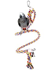Mumoo Bear Bird Toys, Large Medium and Small Parrot Toys Spiral Standing Toys