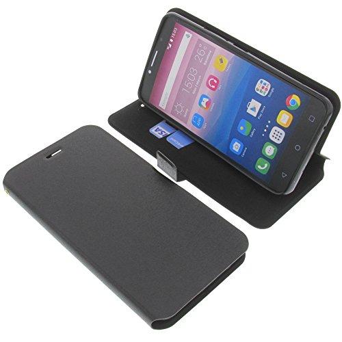 foto-kontor Tasche für Alcatel Pixi 4 6.0 3G Book Style schwarz Schutz Hülle Buch