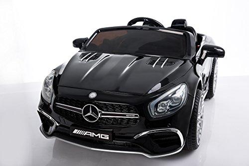 RC Auto kaufen Kinderauto Bild 2: Kinderelektroauto - Mercedes SL 65 AMG - 2 Motoren - Kinderfahrzeug Lizenz Fernbedienung -Schwarz*