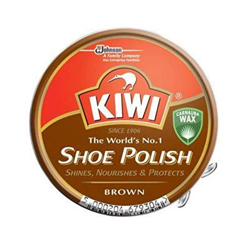 KIWI BROWN SHOE POLISH, 50ML