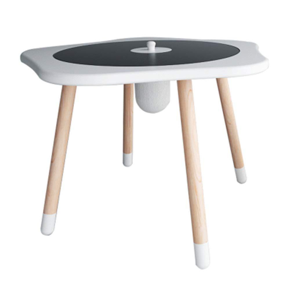 SoBuy Tavolino Soggiorno con Due Piani tavolino da Esterno Tondo Bianco FBT53-WN