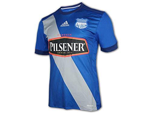 adidas Club Sport Emelec Home Jersey blau Equador Liga Fußball Trikot Fan Shirt, Größe:XS