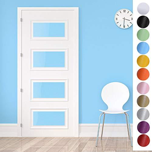 KINLO Türaufkleber klebefolie Küchefolie Blau 60x500cm MIT GLITZER möbelfolie aus hochwertigem PVC Aufkleber für Schrank Tapeten wasserfest selbstklebende Folie Küchenschrank Dekofolie