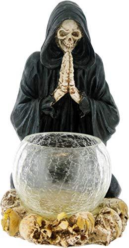 Grindstore Reapers Prayer Candle Holder Black 19.5cm