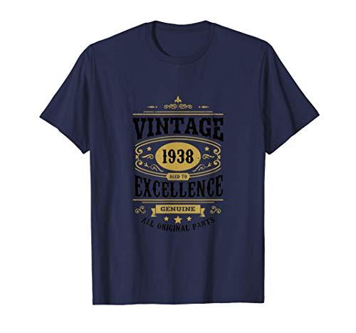 83° Compleanno Papà 83 anni Regalo Vintage per il Nonno 1938 Maglietta