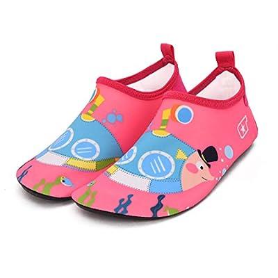 QTMS Kids Boys Girls Water Shoes Barefoot Quick Dry Aqua Socks Swim Shoes (Toddler/Little Kid/Big Kid)