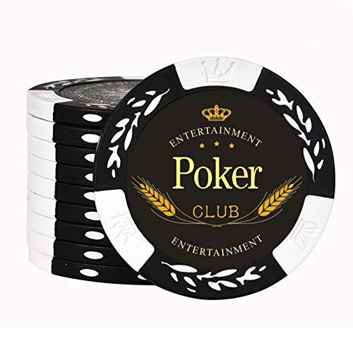 Fichas de Póquer de Casino, Compuesto de Arcilla de Pesado de 14 Gramos para Juegos de Texas Hold'em, Blackjack y Casino - Paquete de 50