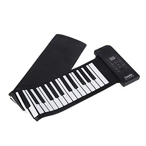 Piano Portátil de 61 Teclas Enrollable, Silicona Suave Tecl