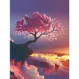Kits de pintura de diamantes 5D 5D DIY árbol de Sakura volcán bordado punto de cruz pintura de mosaico de diamantes de imitación 50x40cm