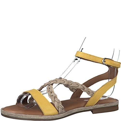 Tamaris Damen Sandalen 28169-24, Frauen Riemchensandale, römer-Sandale Sandalette Gladiatoren-Sandale sommerschuh Lady,Sun Comb,40 EU / 6.5 UK