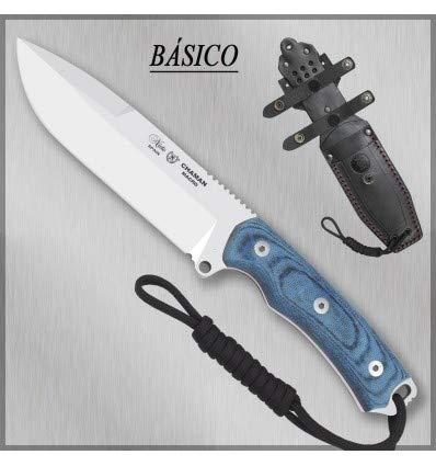 MIGUEL NIETO Nieto - 141-BB. Cuchillo Chaman Macro BÖHLER KATEX Azul. Herramienta para Caza, Pesca, Camping, Outdoor, Supervivencia y Bushcraft