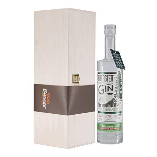 Foerster's Heide Dry Gin Homegrown Edition mit Geschenk-Holzkiste