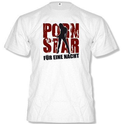 Porn Star – pour une nuit... Messieurs Fun T-shirt Taille S à XXL XL Weiss