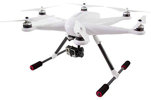 XciteRC 16002050 - Hexacopter H500 RTF - FPV-UAV per GoPro Hero 3 Macchina Fotografica, GPS, 3D Giunto cardanico, Batteria, Caricabatterie e Devo F12E Telecomando con Built-in Monitor a Colori