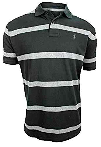 Polo Ralph Lauren Herren Poloshirt, gestreift -  Schwarz -  XXX-Large Hoch