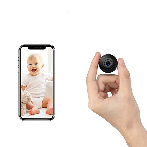 OUCAM Mini Spy Camera WiFi Hidden Camera with Audio Live Feed Home Security Camera Nanny Cam Wireless with Cell Phone App Night Vision Motion Detection Remote View