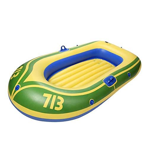 Kayaks inflables, barco inflable portátil plegable, respaldo acolchado para kayak, bote inflable de pie para tabla de surf SUP tabla de surf cojín de respaldo alto (2 personas)