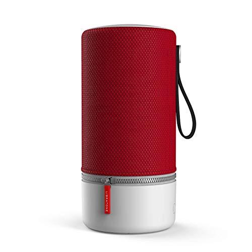 Libratone ZIPP 2 Smart Wireless großer Lautsprecher (Alexa Integration, AirPlay 2, MultiRoom, 360° Sound, Wlan, Bluetooth, Spotify Connect, 12 Std. Akku) cranberry rot