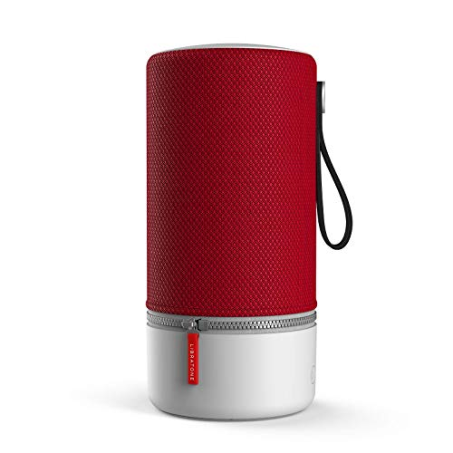 Libratone ZIPP 2 Smart Wireless großer Lautsprecher (Alexa Integration, AirPlay 2, MultiRoom, 360° Sound, Wlan, Bluetooth, Spotify Connect, 12 Std. Akku) cranberry rot