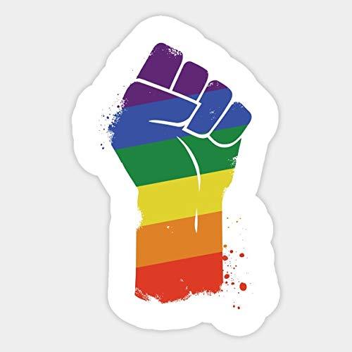 BLOUR 1 Stück LGBT Resist Gay Pride Awareness Aufkleber wasserdicht für Laptop Auto Skateboard Gepäck Gitarre Möbel...