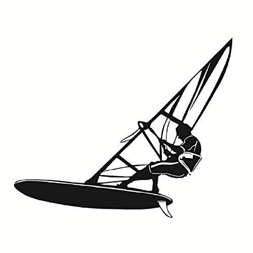 Windsurf Etiqueta De La Pared Decoración Del Hogar Deportes Acuáticos Extremos Extraíble Vinilo Etiqueta De La Pared Sala De Estar Gimnasio Dormitorio 70X58Cm