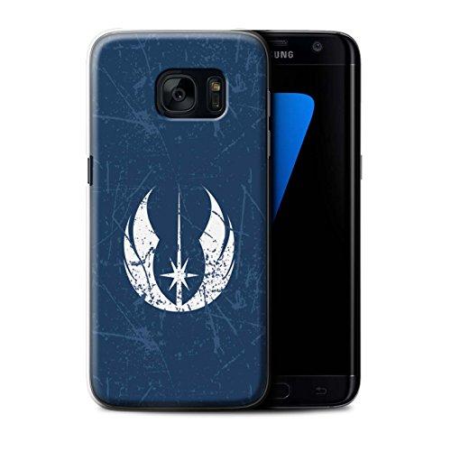 eSwish Carcasa/Funda Dura para el Samsung Galaxy S7 Edge/G935 / Serie: Arte Símbolo Galáctico - Orden Jedi Inspirado