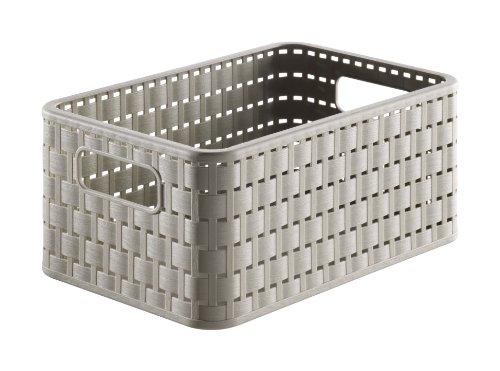 Rotho Aufbewahrungskiste, Kunststoff, Cappuccino, Dekobox A5