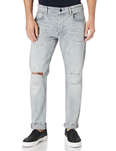 G-STAR RAW Herren 3301 Slim Fit Tapered ' Jeans 35W / 32L,vintage ripped oreon grey C293-C297