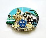 JIUXIAO Reino Unido, Dublín, Irlanda, Escocia, imanes de Nevera 3D, Recuerdos de Turismo, Pegatinas magnéticas para Nevera, decoración del hogar