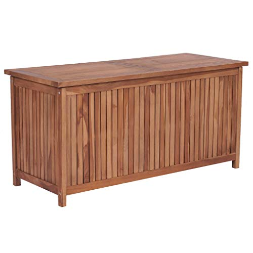vidaXL Teak Massiv Aufbewahrungsbox Gartentruhe Gartenbox Kissenbox Truhe Box