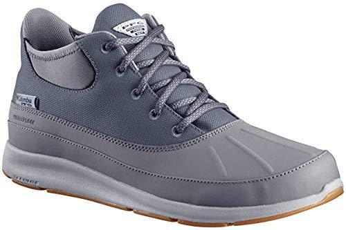 Columbia Men's Delray Duck PFG Boat Shoe, Graphite/White, 11.5