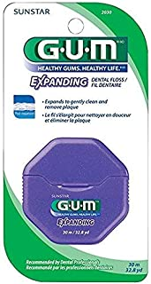Sunstar GUM Expanding Dental Floss 30 Meters (32.8 Yards) 6 PACK