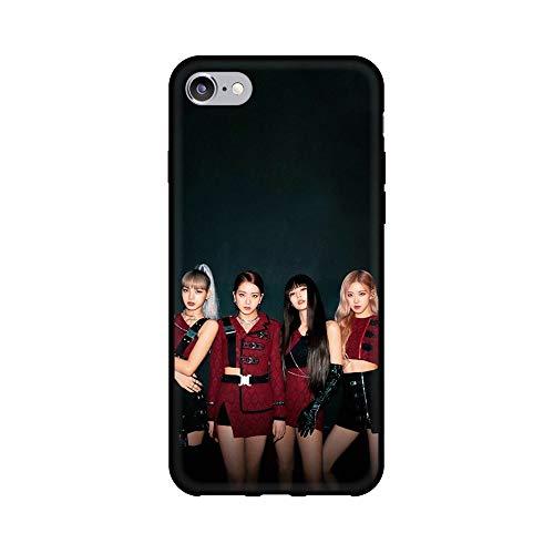 通用 Blackpink Galaxy S7 Edge Funda Carcasa Silicona Suave Case Cover TPU Protectora Lisa Rose Jennie JISOO para Samsung Galaxy S7 Edge