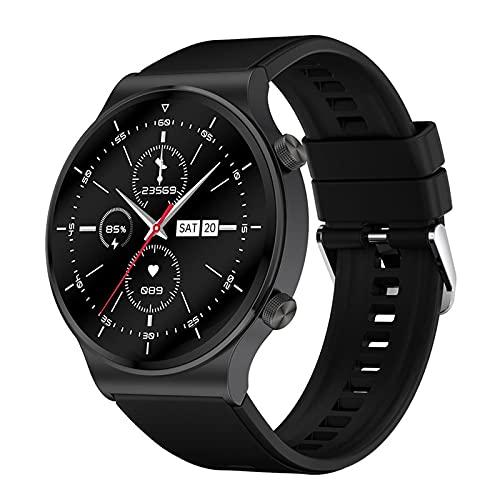 Rvlaugoaa Bluetooth Smart Watch 1.3 Pulgadas Full Touch Pulsera Inteligente Podómetro Salud Fitness Tracker Pulsera Deportiva IP68 Reloj Inteligente A Prueba De Agua para Teléfonos Android iOS,A