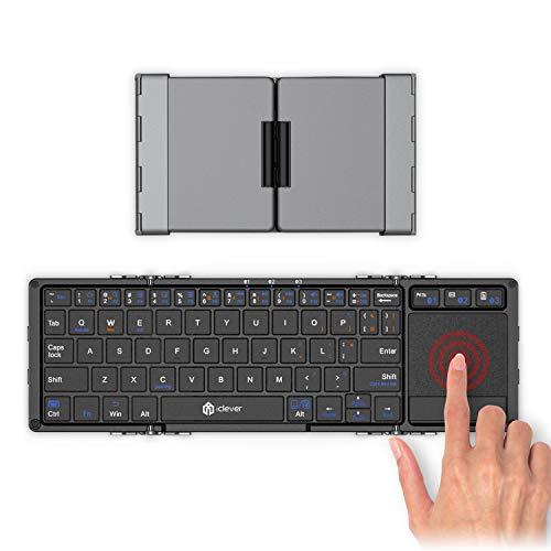 41DTDsNrNOL-折り畳み式フルキーボードの「iClever  IC-BK05」を購入したのでレビュー!小さくなるのはやっぱ便利です。