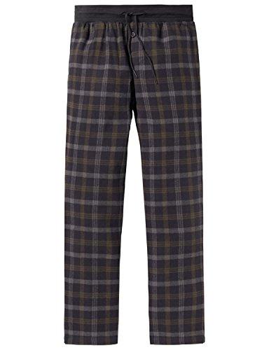 Schiesser Jungen Mix & Relax Webpants Schlafanzughose, Grau (Anthrazit 203), 140 (Herstellergröße: XS)