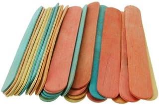 Creation Station CS3708 60 Jumbo Lollipop Sticks, 150mm x 19mm, Wooden, Assorted Colours