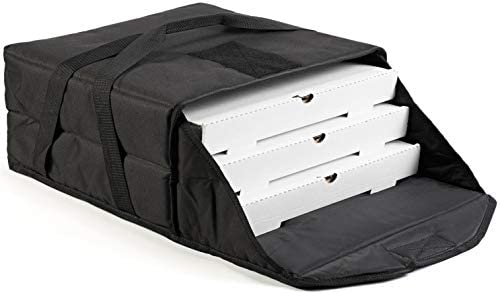 Covertex Pizza Delivery Bag 18 inch 3 Pie Commercial Quality Heavy Duty Breathable 3 Layer Insulation product image