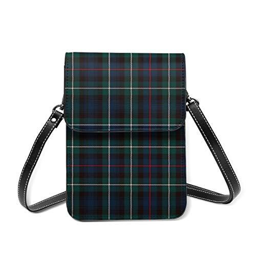Kleine Umhängetasche, Mackenzie Tartan Plaid Outlander Crossbody Tasche Handy Geldbörse Geldbörse Leichte Crossbody Handtaschen für Frauen Mädchen