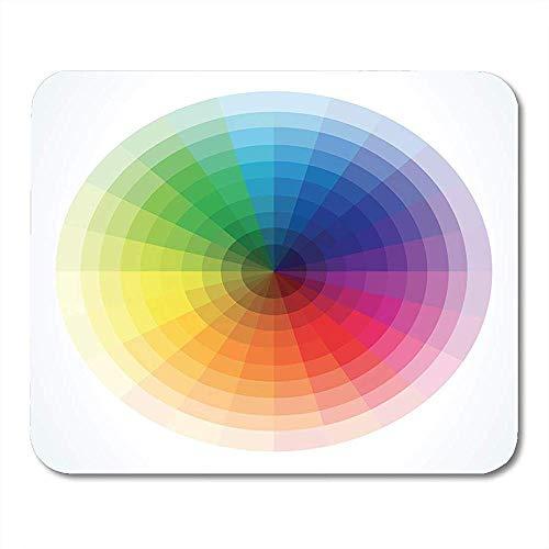 Mausemat Grafische Bunte Spektrum-Farben-Räder Kreisen Pantone-Notizbücher 25X30Cm Tischrechnermatten Bürozubehöre Ein Mauspads