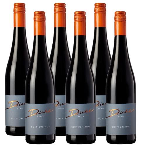 Weingut Diehl Edition Rot - Halbtrockener Rotwein aus der Wein-Region Pfalz (6 x 0,75l)