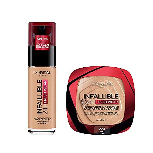 KIT INFALLIBLE: Base de Maquillaje Infallible + Polvo Compacto Infallible - SAND